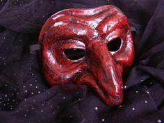 Masquerade mask Pantalone mask Scary mask Half face by EpicFantasy