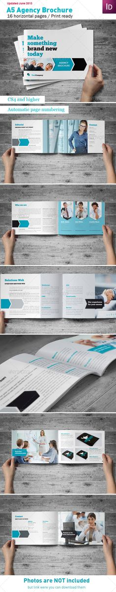 Agency Brochure A5 - Corporate Brochure Template InDesign INDD. Download here: http://graphicriver.net/item/agency-brochure-a5/540007?s_rank=715&ref=yinkira