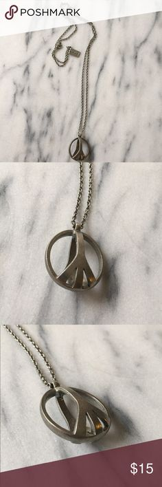Low Luv x Erin Wasson Cage Peace Necklace Low Luv x Erin Wasson Cage Peace Sign Necklace. Never worn. Low Luv x Erin Wasson Jewelry Necklaces