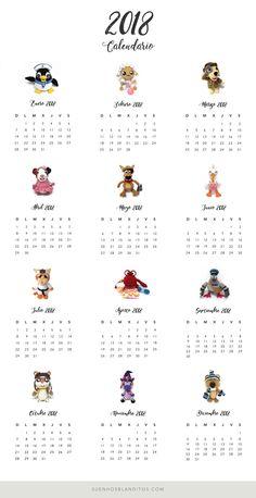Calendario #Amigurumi 2018