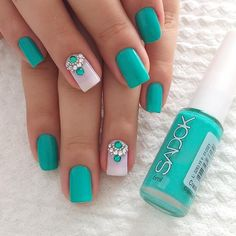 2019 Latest Nail Art Designs You Should Try - Naija's Daily Simple Nail Art Designs, Nail Designs, Trendy Nails, Cute Nails, Image Nails, Nails Design With Rhinestones, Square Nails, Nail Trends, Manicure And Pedicure