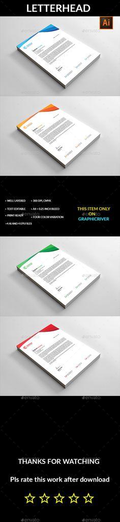 #Letterhead - Stationery Print Templates Letterhead Printing, Letterhead Business, Stationery Printing, Stationery Templates, Stationery Items, Print Templates, Corporate Business, Invoice Design, Letterhead Design