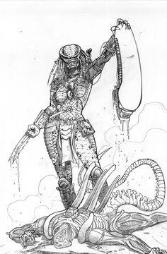 Female Predator with Alien head Female Predator 2 Alien Vs Predator, Predator Costume, Predator Cosplay, Predator Alien, Predator Comics, Female Yautja, Character Art, Character Design, Alien Tattoo