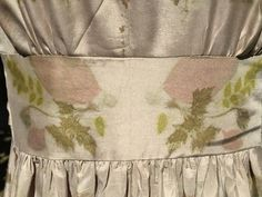 Waistband detail - geranium, griselinia and acacia