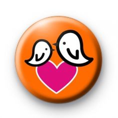 Birdy Love Button Badges Badge pin badges buttons button badge