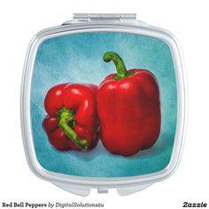 Red Bell Peppers Vanity Mirror