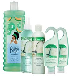 $9.99 - 5 pcs Cucumber Melon Bath & Body set.  24oz Bubble Bath, 2 shower gels, body spray & body lotion