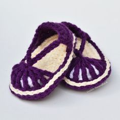 Instant Immediate Download Baby Girl Skimmer Sandal Crochet Pattern DIY purple cream bootie shoe tutorial do it yourself how to pdf yellow