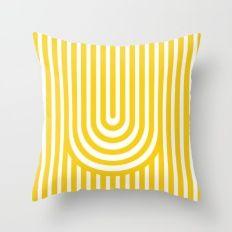 U, Throw Pillow