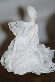 Paper & clay sculpture