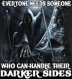 And I'll take your job ferryman fuck the reaper ✌🇬🇧 Grim Reaper Quotes, Grim Reaper Art, Skull Pictures, Cool Pictures, Badass Quotes, Funny Quotes, Crane, Twisted Quotes, Dark Quotes