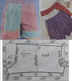 If I Can Figure Out This Pattern!We sew easily and simply Sewing Shorts, Sewing Clothes, Diy Clothes, Dress Sewing, Easy Sewing Patterns, Sewing Tutorials, Clothing Patterns, Easy Sew Dress, Underwear Pattern