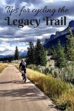 The scenic Legacy Trail in Alberta, Canada connects Banff and Canmore- the perfect way for cyclists to see the mountains! Mtb, Bike Deals, Alberta Travel, Bike Path, Road Bike, Cycling Quotes, Bike Reviews, Banff National Park, National Parks