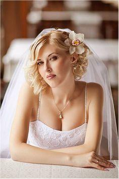 Coiffure mariage voile pour cheveux courts