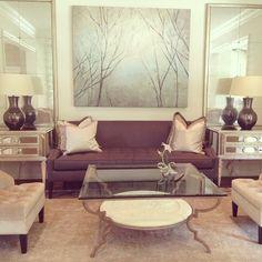 Formal living room. Custom silk rug & chairs; Taylor & Taylor Designs, Inc.