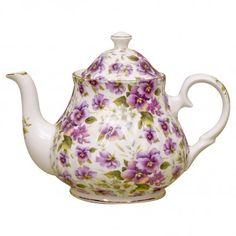 Pansy Chintz Fine Bone China - 6 Cup Teapot