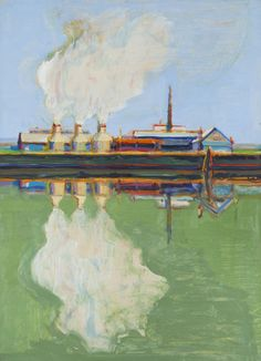 Wayne Thiebaud (American, b. Smoke Reflections, Oil on paper mounted on masonite, 14 ¼ x 10 in. Bay Area Figurative Movement, Pop Art Movement, Wayne Thiebaud Paintings, Mondrian Art, Psychedelic Drawings, Principles Of Art, Painting Wallpaper, Albrecht Durer, Renaissance Art