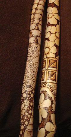 free wood patterns for carving walking sticks