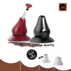 finum® is proud to introduce the improved manual coffee grinder Bean Me Up™ featuring two ceramic conal burrs for fast and easy grinding
