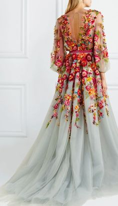 Apr 2020 - handmade custom This Blue long sleeves prom dress Floral Embroidered party Gown flowers wedding dress sold by Handmade Dress. Shop more products from Handmade Dress on Storenvy, the home of independent small businesses all over the world. Wedding Dresses With Flowers, Prom Dresses Long With Sleeves, Dream Wedding Dresses, Wedding Gowns, Floral Formal Dresses, Dress With Flowers, Floral Flowers, Marchesa Wedding Dress, Marchesa Dresses