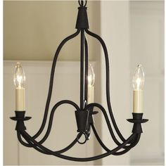 Pottery Barn Armonk 3-Arm Chandelier found on Polyvore