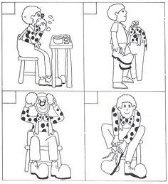 images séquentielles clown