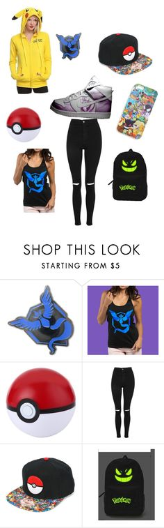 """""""Pokémon go adventure!!"""" by littlebunnerz ❤ liked on Polyvore featuring Kanto and Topshop"""