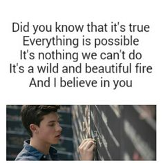AND I BELIEVE IN YOU SHAWN MENDES