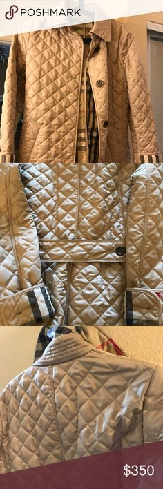 Burberry Brit Dimond Quilted Jacket Size small, it's a gorgeous jacket, unfortunately; it's large for me and haven't worn it more than two times. Comes as is. Price is firm and no trades. Thank you! Burberry Jackets & Coats Puffers