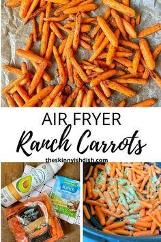 Air Fryer Oven Recipes, Air Frier Recipes, Air Fryer Dinner Recipes, Healthy Sides, Healthy Side Dishes, Best Side Dishes, Carrot Recipes, Ww Recipes, Cooked Carrots