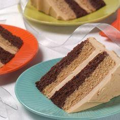 Mocha Dream Cake (Intermediate; 10 servings) #mocha #cake