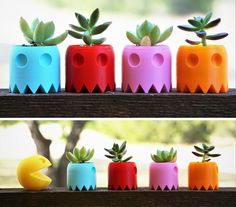 Pac-Man Ghost Planters