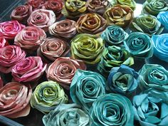 Coffee Filter Roses.... cool.