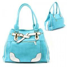 Buy New: $40.99: Belt Stud Purse and Bag / Handbag / Blue / Rchm2012blu