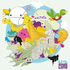 Ilustrador guatemalteco, con un talento y una paleta de colores muy geniales.