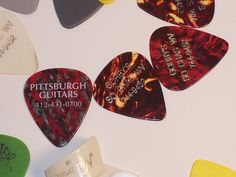 This is my tiny collection of guitar picks.     Classic musical instruments
