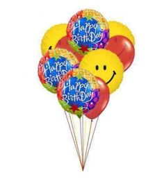 Different colors to express different emotions on your birthday. This 9 balloons bouquet brings all your family member close as these balloons are. Simply superb gift.
