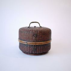 【旅茶籠】時代物 タイ製籐組手付籠 | タイ工藝ムラカ