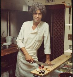 ANTHONY BORDAIN as a younger chef with the look of a rogue about him.