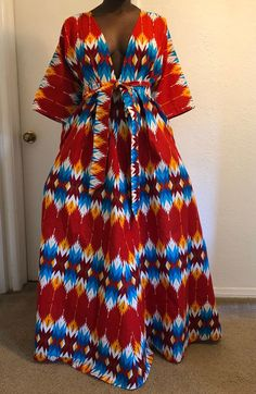 African print handmade wide leg pants and dresses by BoutiqueModiste African Maxi Dresses, African Fashion Ankara, Latest African Fashion Dresses, African Dresses For Women, African Print Fashion, African Wear, African Attire, African Women, African Print Jumpsuit