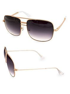 28c7d52a97 Ray-Ban Monochromatic Metal Aviator Sunglasses