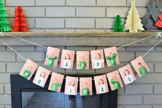 Make this photo garland for some custom holiday decor! I used pics of my kids and added a merry message to their shirts. This is a great gift idea for family!