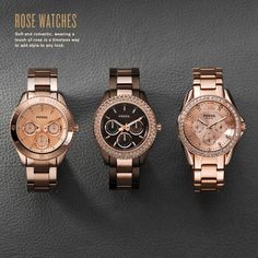 Rose Watches from Fossil - LOVE, LOVE, LOVE THESE!!