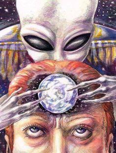 What is preventing open human contact with space aliens? Types Of Aliens, Aliens And Ufos, Ancient Aliens, Alien Gris, Grey Alien, Psy Art, Alien Abduction, Space Aliens, Alien Creatures