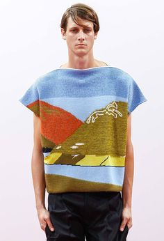 j.W Anderson - Spring 2015 I'm such a sucker for intarsia and landscapes!!
