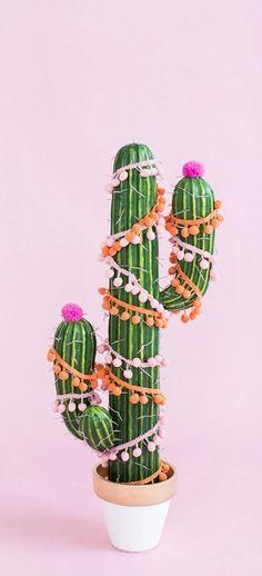 DIY Christmas Tree Cactus