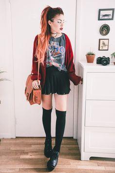 Grunge fashion, autumn fashion, fashion outfits, fashion ideas, punk rock g Grunge Look, Mode Grunge, 90s Grunge, Grunge Style, Grunge Outfits, Edgy Outfits, Cute Outfits, Fashion Outfits, Fashion Ideas