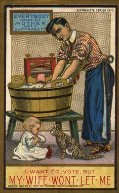 These unbelievable vintage postcards from the early 1900s were used as propaganda by men to stop women from having more rights. Although The Suffragettes campaigned tirelessly to change the status quo of the day, many men found the idea of women's rights not only disagreeable but even downright dangerous.