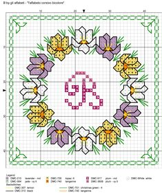Cross Stitch Letters, Cross Stitch Cards, Cross Stitch Flowers, Cross Stitching, Cross Stitch Designs, Stitch Patterns, Alphabet And Numbers, Alphabet Letters, Stitch 2