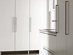 Kulma - valkoinen. Decor, Tall Storage, Tall Cabinet Storage, Kitchen, Storage, Cabinet, French Door Refrigerator, Home Decor, Storage Cabinet